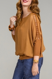 Bella Amore Ladder Sleeve Top - Product Mini Image