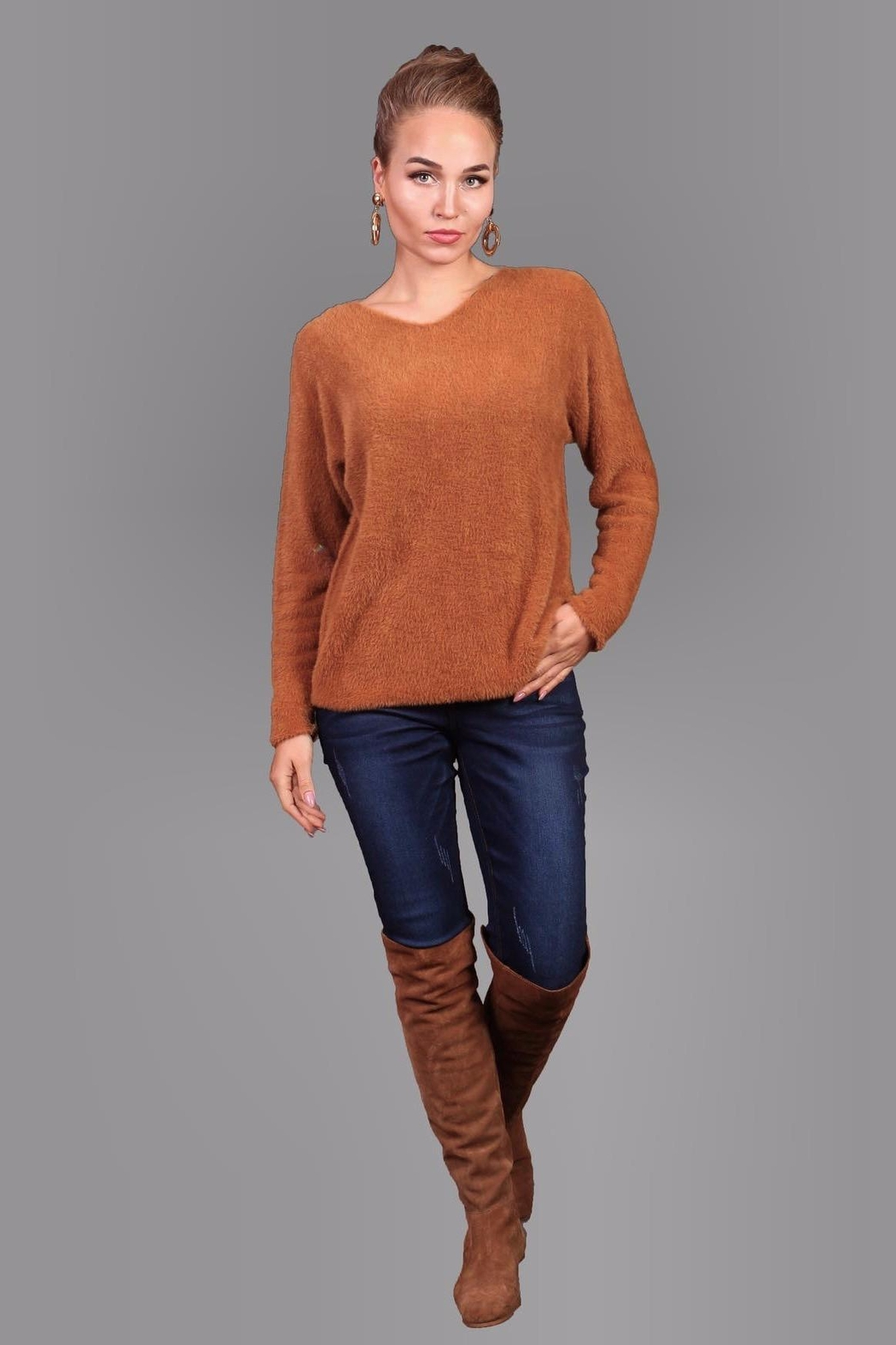 Bella Amore Super-Soft Camel Sweater - Main Image