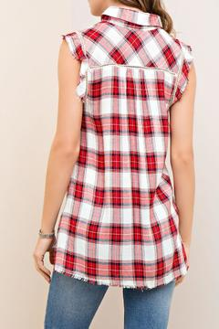 Shoptiques Product: Plaid Sleeveless Top