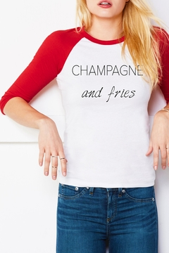 Bella Canvas Champagne & Fries Tee - Product List Image