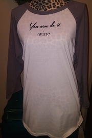 Bella Canvas Wine Raglan Tee - Product Mini Image