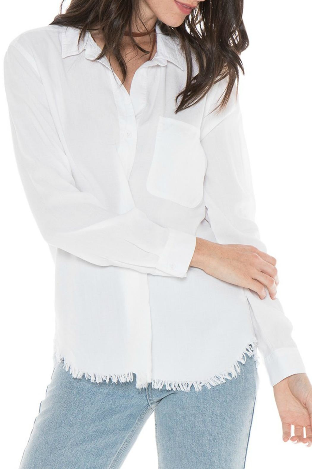 Bella Dahl Button Down Frayed Top - Main Image