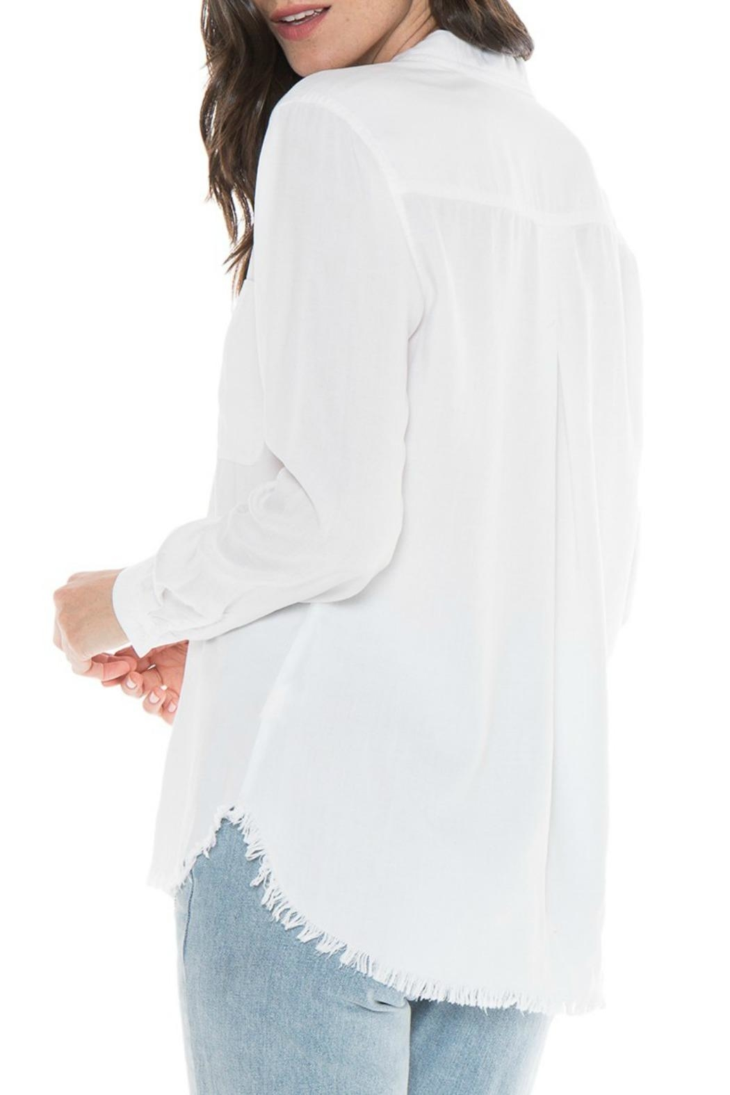 Bella Dahl Button Down Frayed Top - Front Full Image