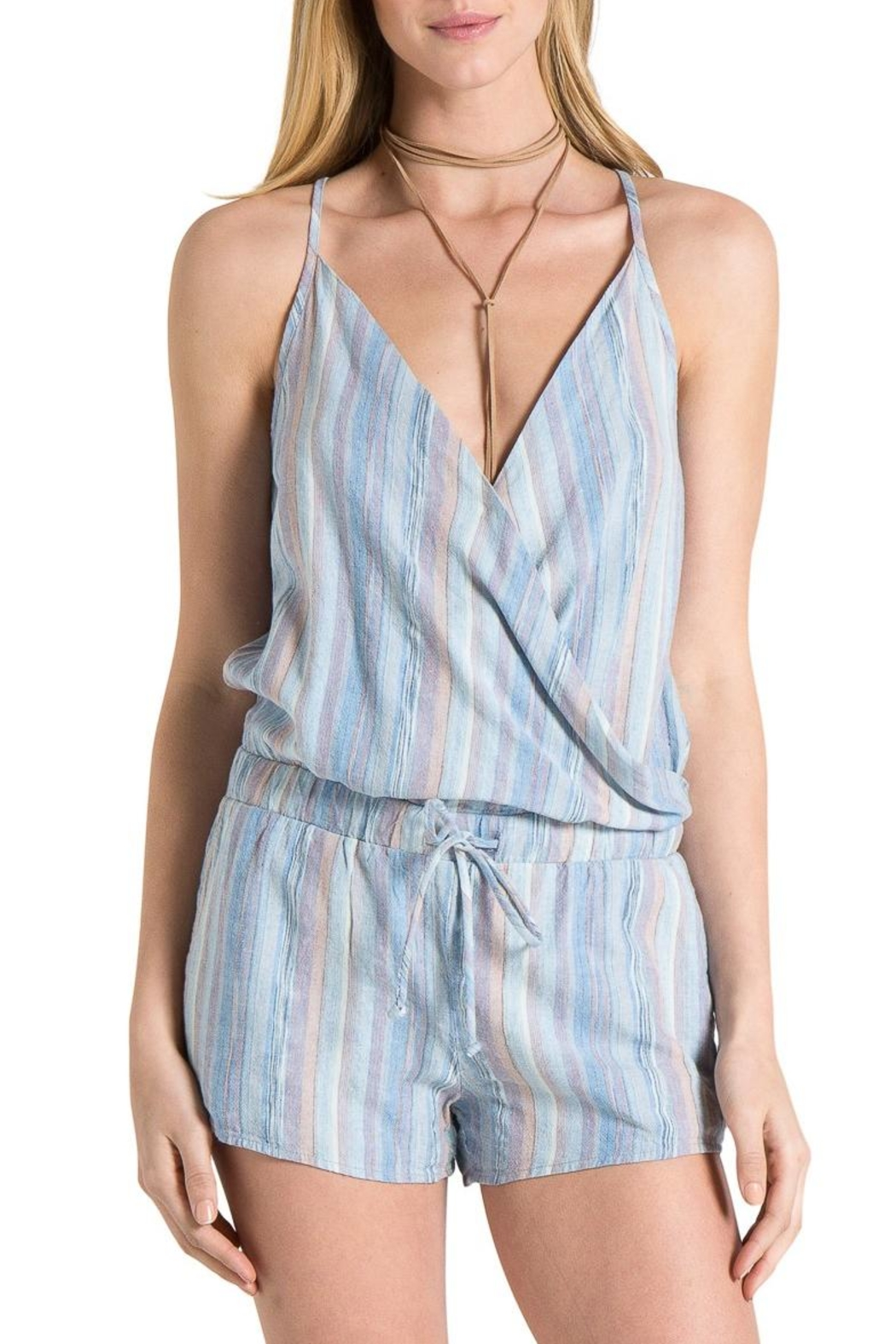 Bella Dahl Cross Front Romper - Front Cropped Image