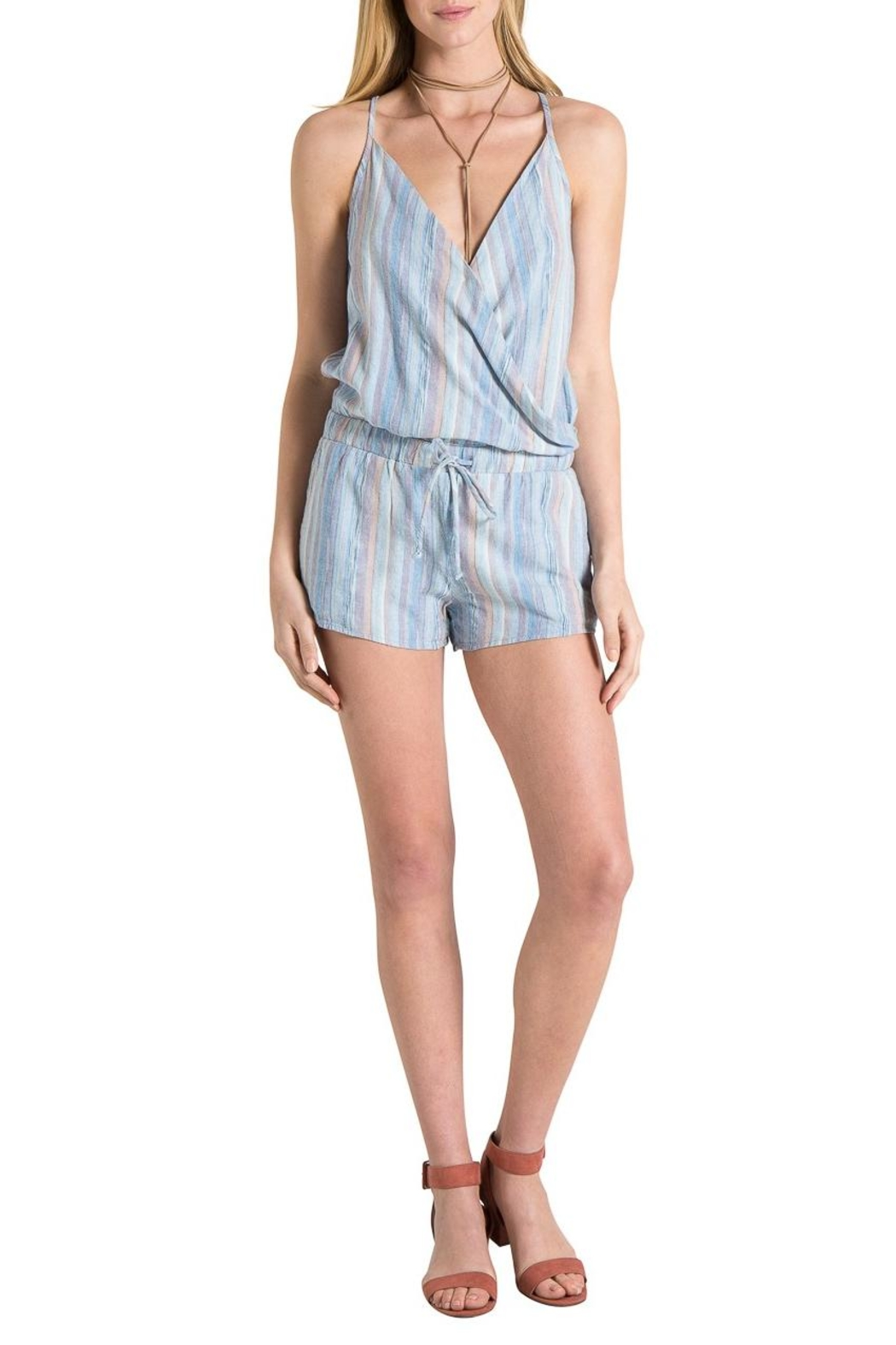 Bella Dahl Cross Front Romper - Side Cropped Image