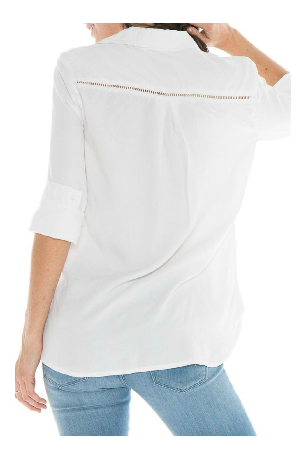 Bella Dahl Eyelet Button Down - Side Cropped Image