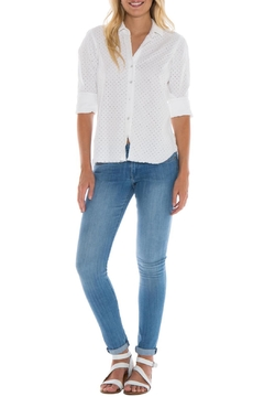 Bella Dahl Eyelet Button Down Shirt - Product List Image