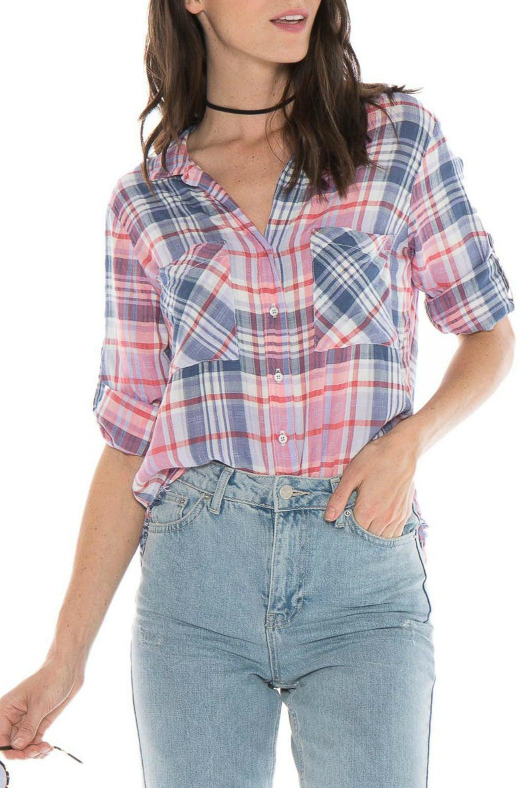 Bella dahl fray hem button down from new jersey by robin 39 s for Bella dahl plaid shirt