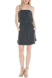Bella Dahl Frayed Strapless Dress - Product Mini Image