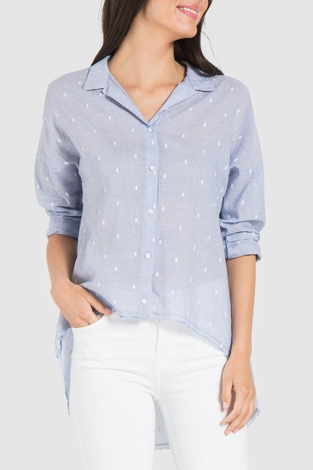 Bella Dahl High-Low Shirt - Back Cropped Image