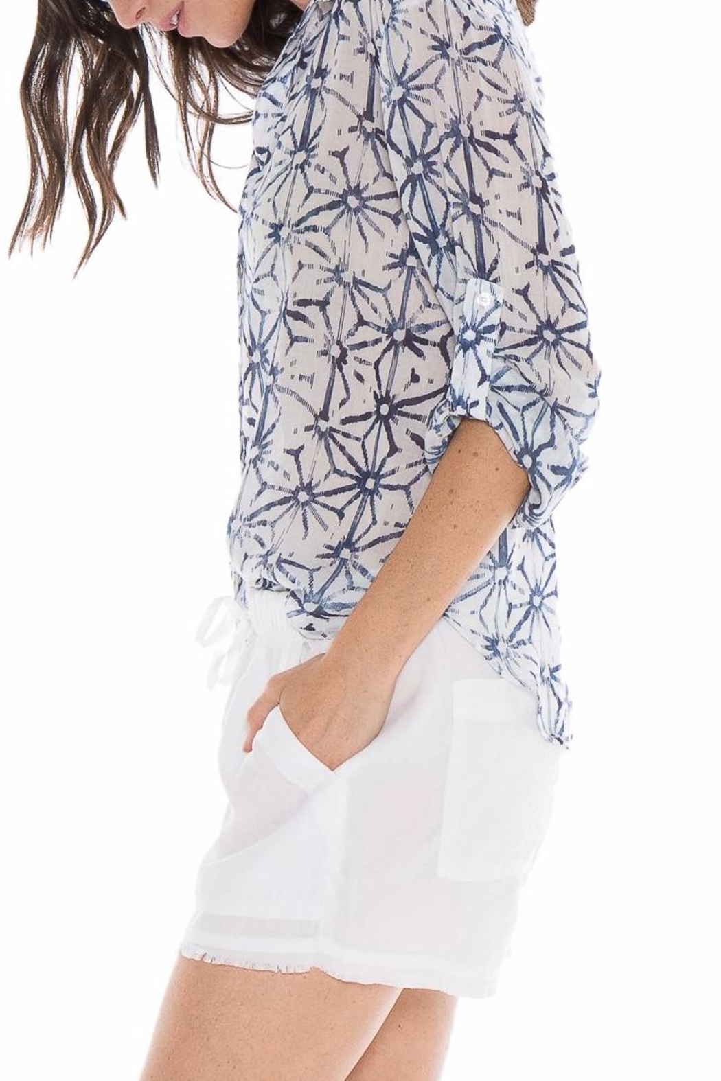 Bella Dahl Origami Star Blouse - Front Full Image
