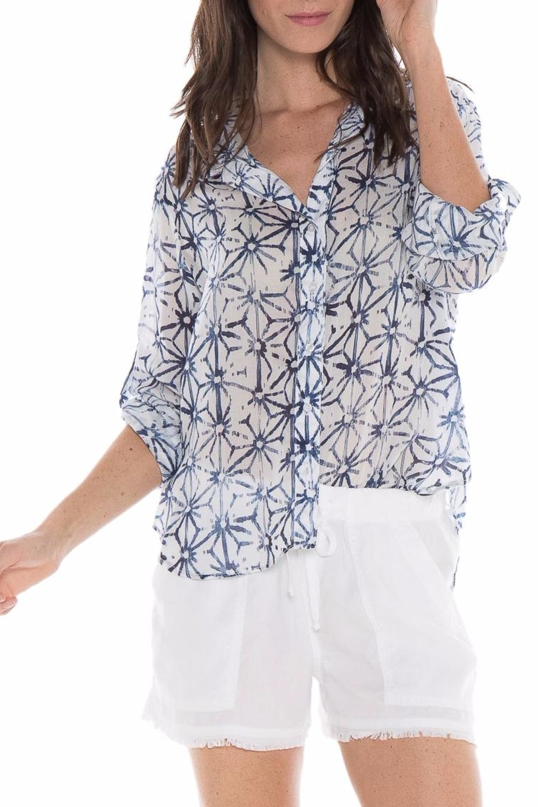 Bella Dahl Origami Star Blouse - Front Cropped Image