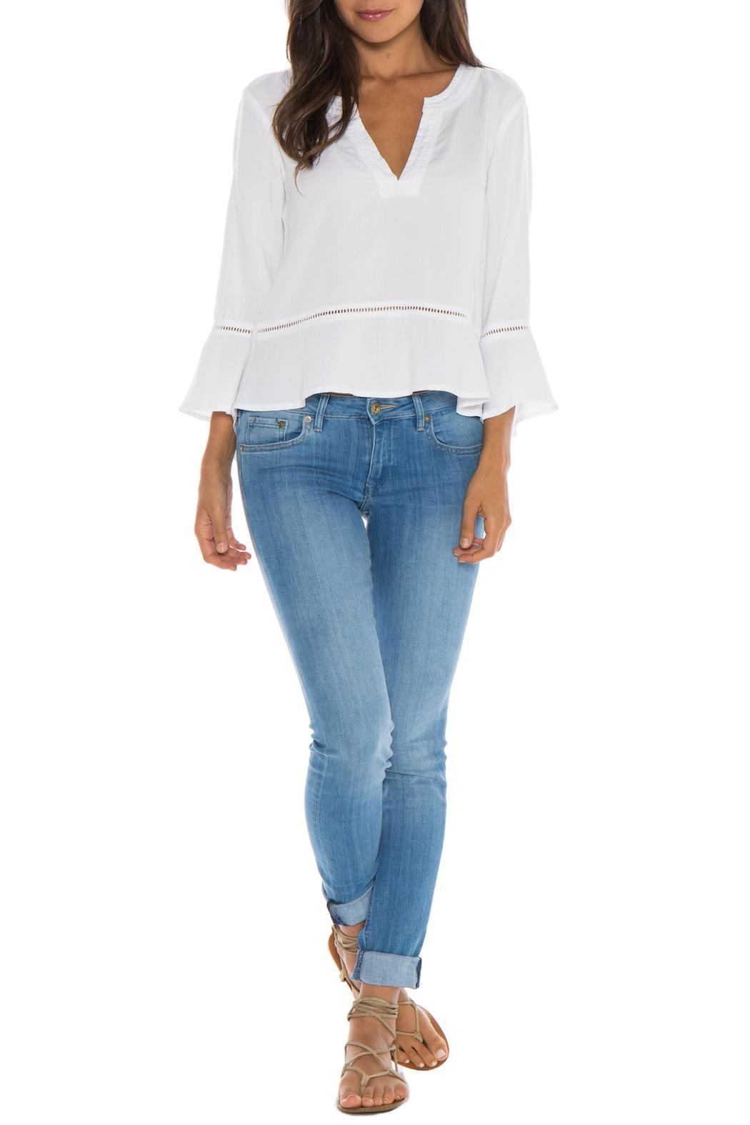 Bella Dahl Peplum Pullover - Front Cropped Image