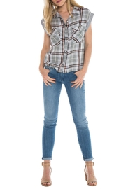 Bella Dahl Plaid Crop Shirt - Product Mini Image