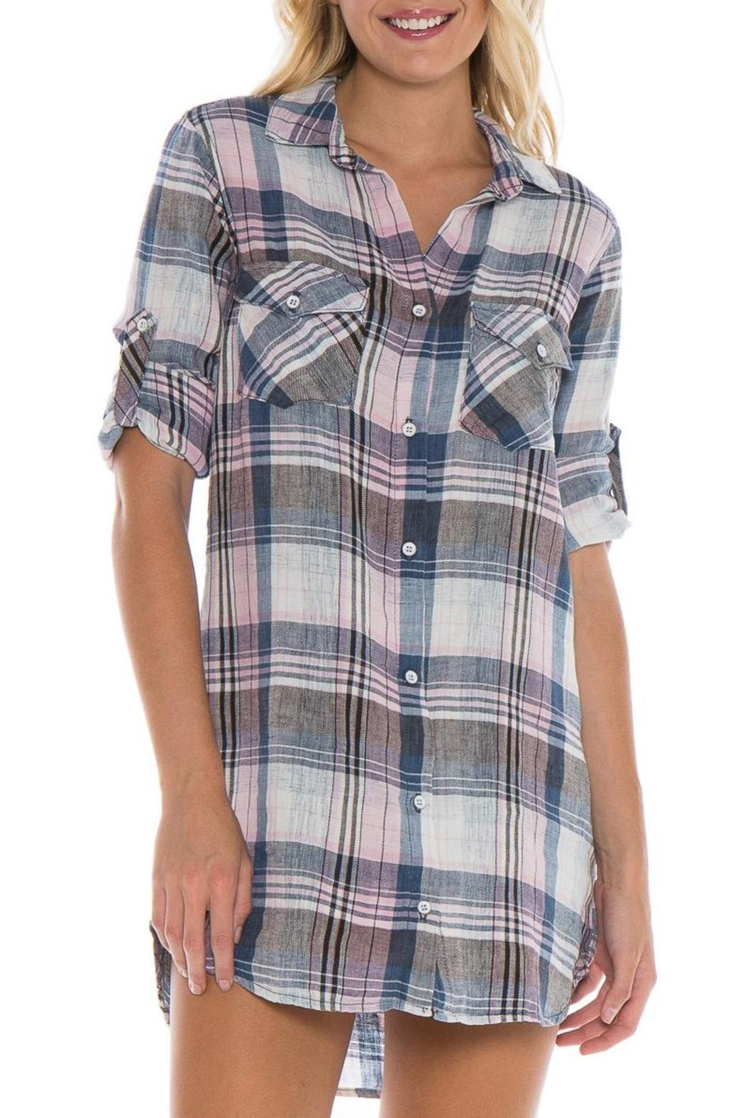 bella dahl plaid shirt dress from arkansas by harrison 39 s
