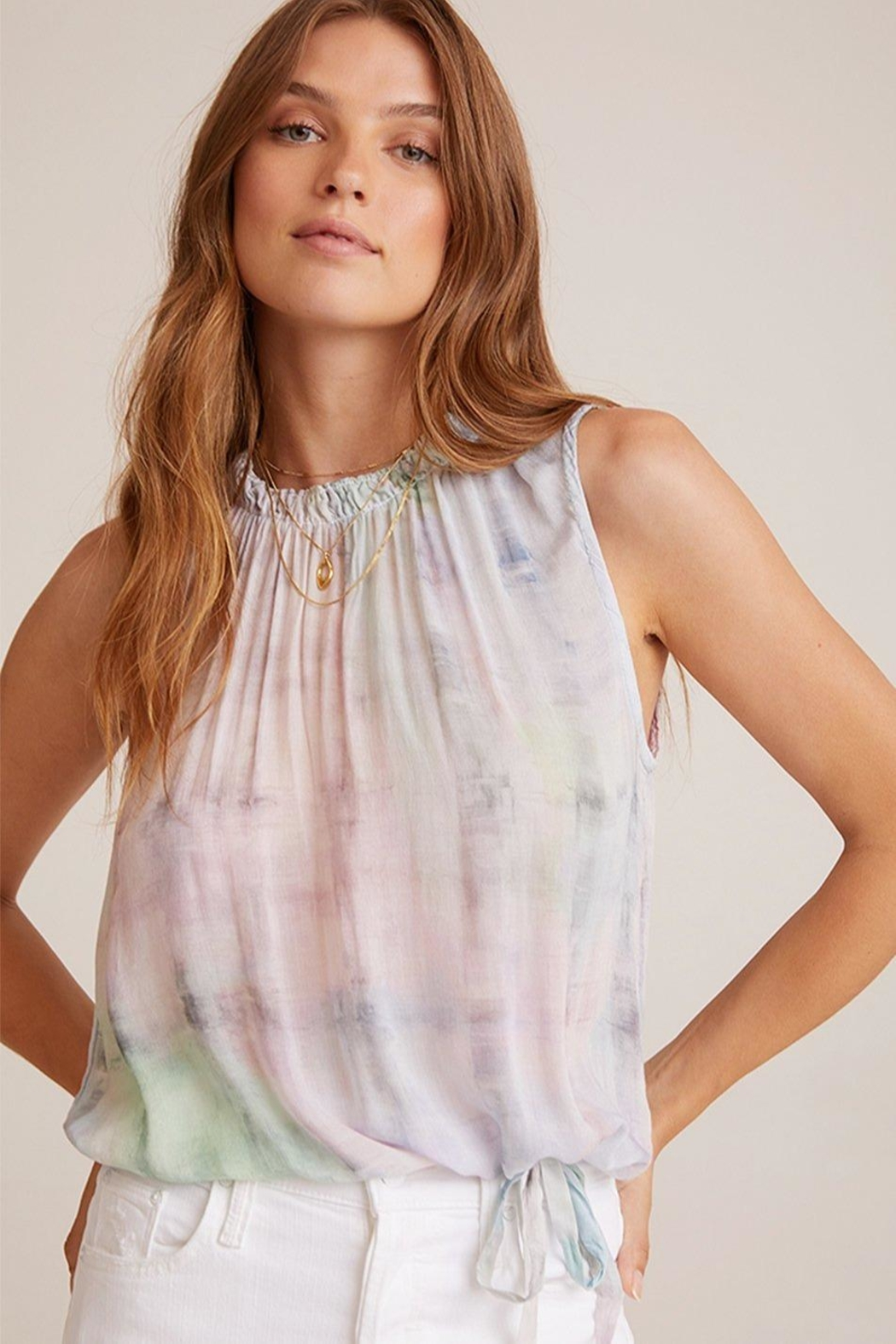Bella Dahl Sleeveless Pastel Top - Front Cropped Image