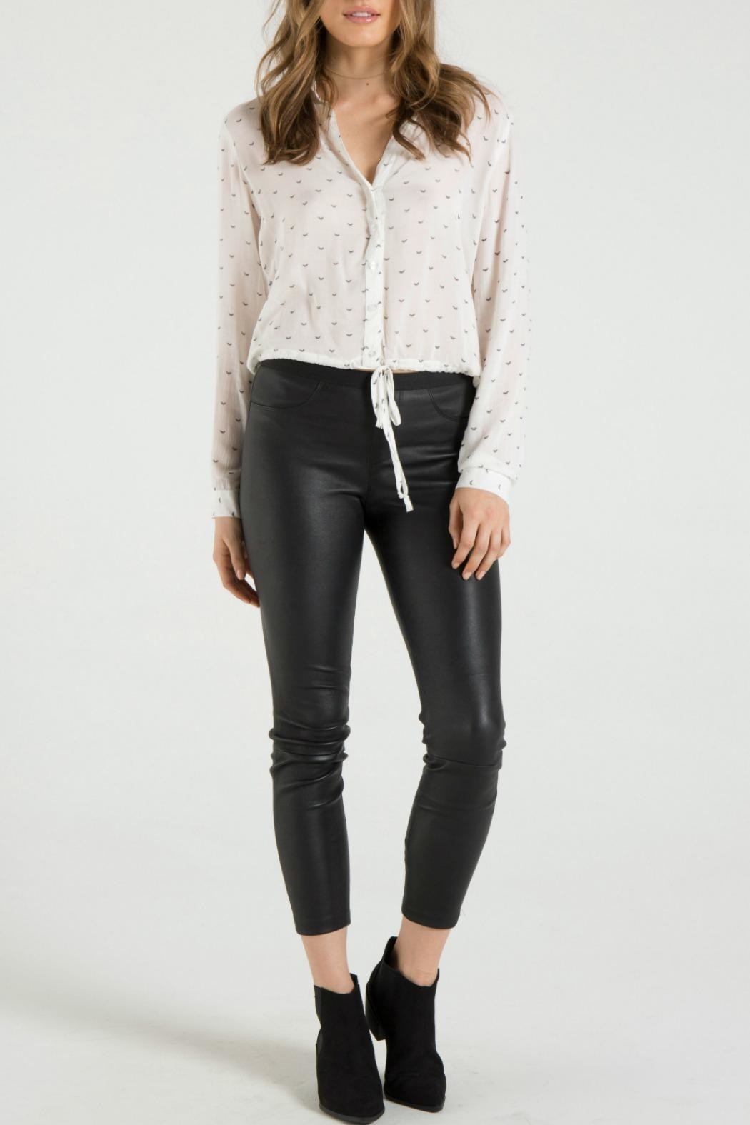 Bella Dahl Tie Bottom Shirt - Front Cropped Image