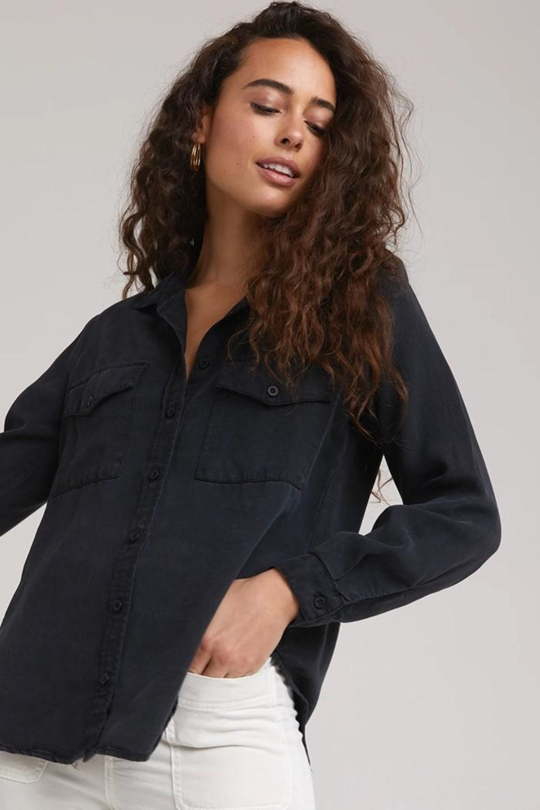 Bella Dahl Utility Button Down - Side Cropped Image
