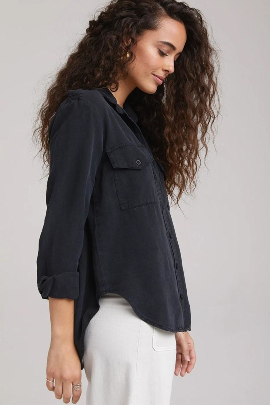 Bella Dahl Utility Button Down - Back Cropped Image