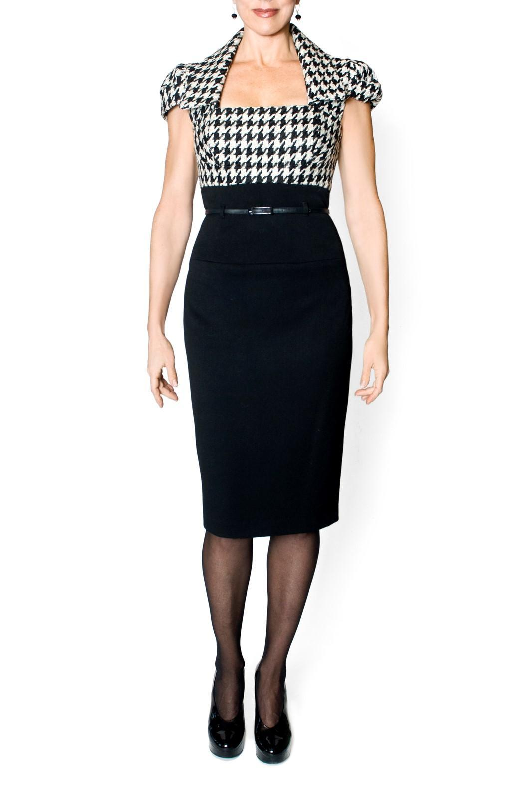 bella Forte Boutique Houndstooth Dress - Front Cropped Image