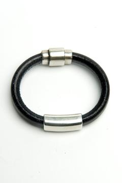 Shoptiques Product: Black Leather Bracelet