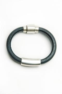 Shoptiques Product: Charcoal Leather Bracelet