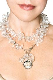 bella Forte Boutique Crystal Quartz Necklace - Front full body