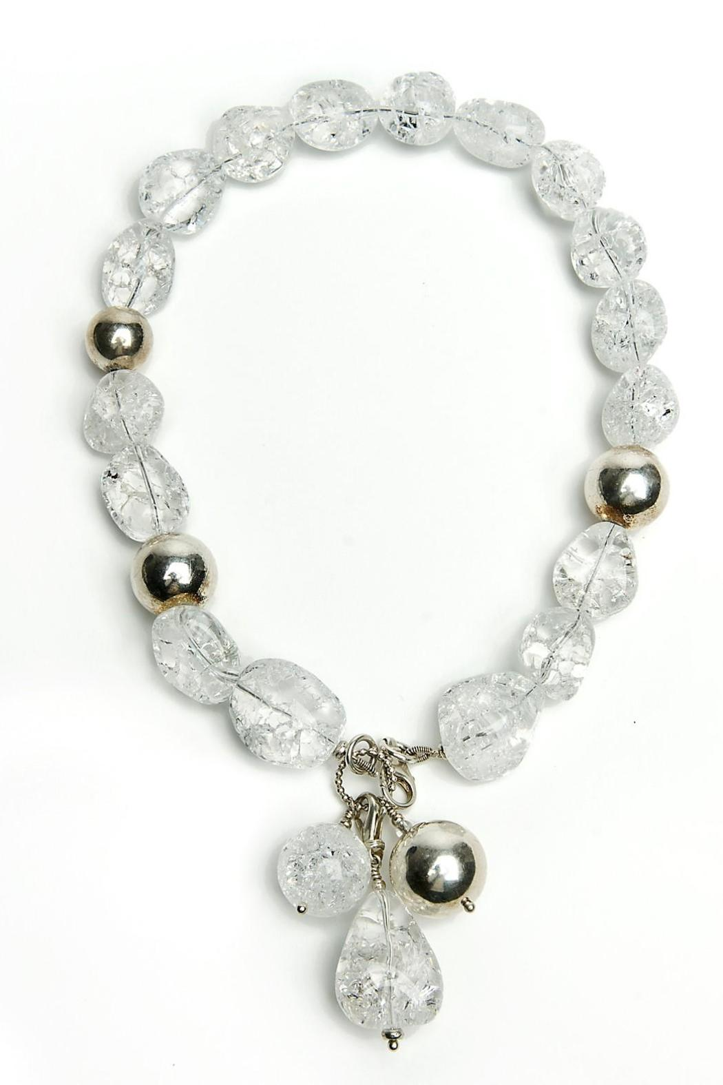 bella Forte Boutique Cracked Crystal Quartz Necklace - Main Image