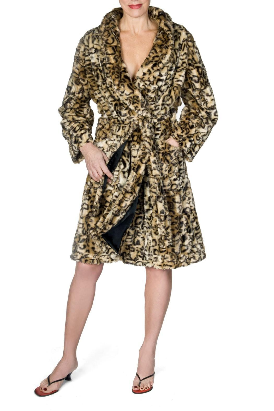 bella Forte Boutique Leopard Robe - Front Cropped Image