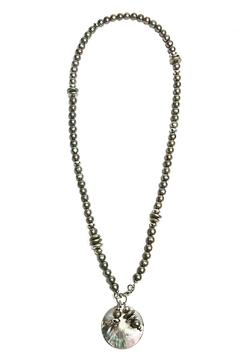 Shoptiques Product: Mauve-Grey Pearls Necklace