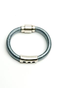 Shoptiques Product: Metallic Gunmetal Bracelet