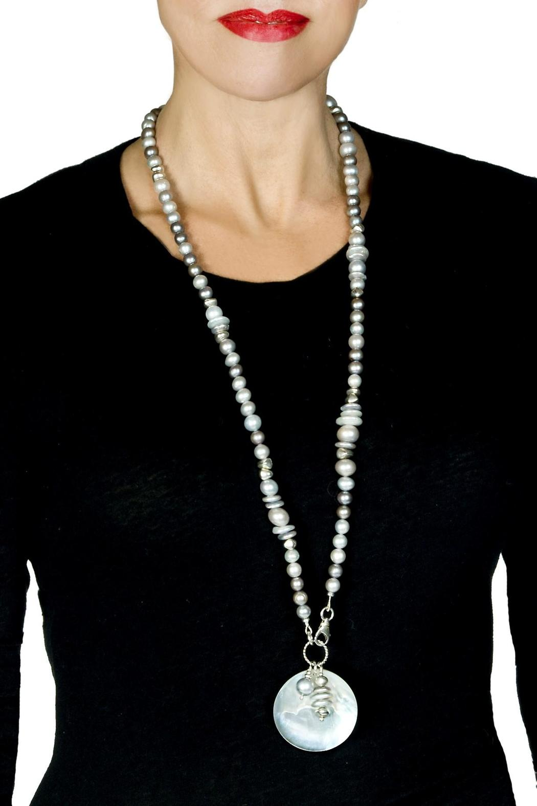 bella Forte Boutique Multi-Colored Grey Pearls - Front Full Image