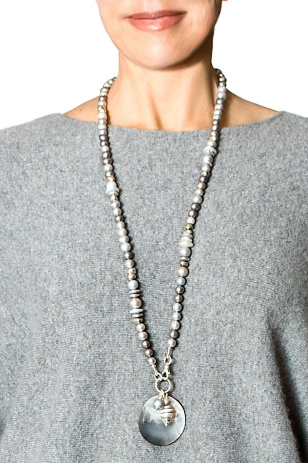 bella Forte Boutique Multi-Colored Grey Pearls - Side Cropped Image