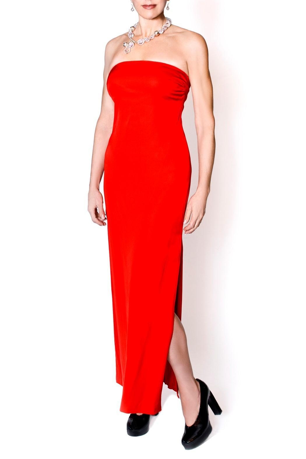 bella Forte Boutique Floor Length Red Dress - Main Image