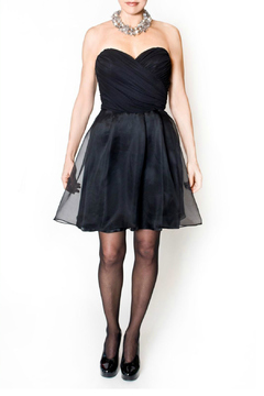 Shoptiques Product: Strapless Black Dress