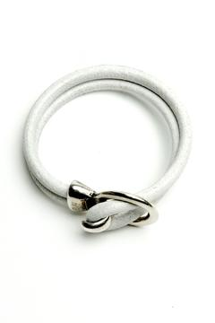 Shoptiques Product: White Leather Bracelet