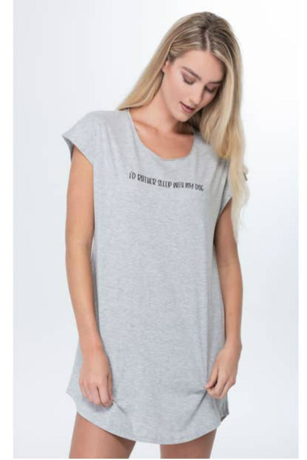 Bella il Fiore Graphic Sleep Tee - Front Cropped Image