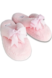 Bella il Fiore Plush Spa Slippers - Front cropped