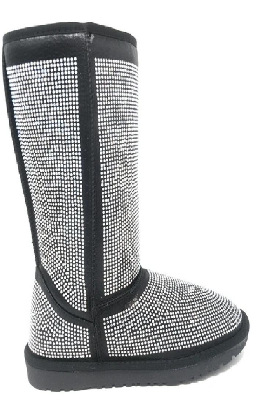 Bella Luna by Springland Footwear Bella Luna Angel Pazzle Women's Boot Black - Side Cropped Image