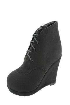 Bella Marie Black Wedge Bootie - Alternate List Image