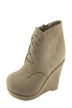 Bella Marie Taupe Wedge Booties - Alternate List Image