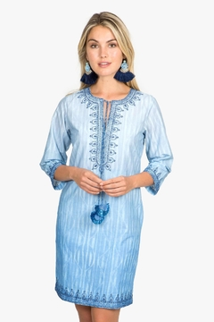 Bella Tu Blue 3/4 Sleeve Dress - Product List Image