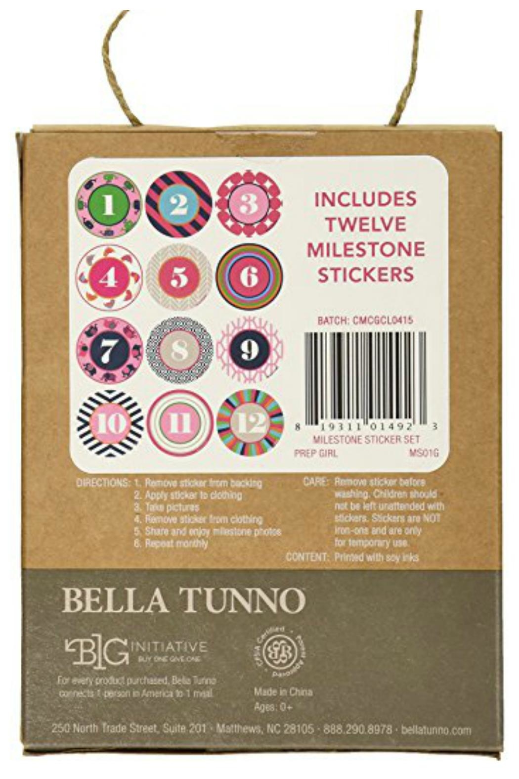 Bella Tunno Milestone Stickers - Side Cropped Image