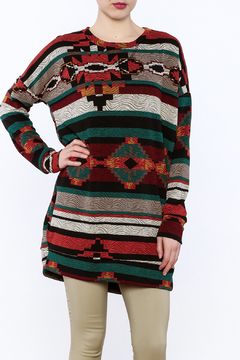 Bellamie Aztec Print Tunic Top - Product List Image