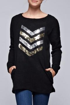 Bellamie Black Chevron Top - Product List Image