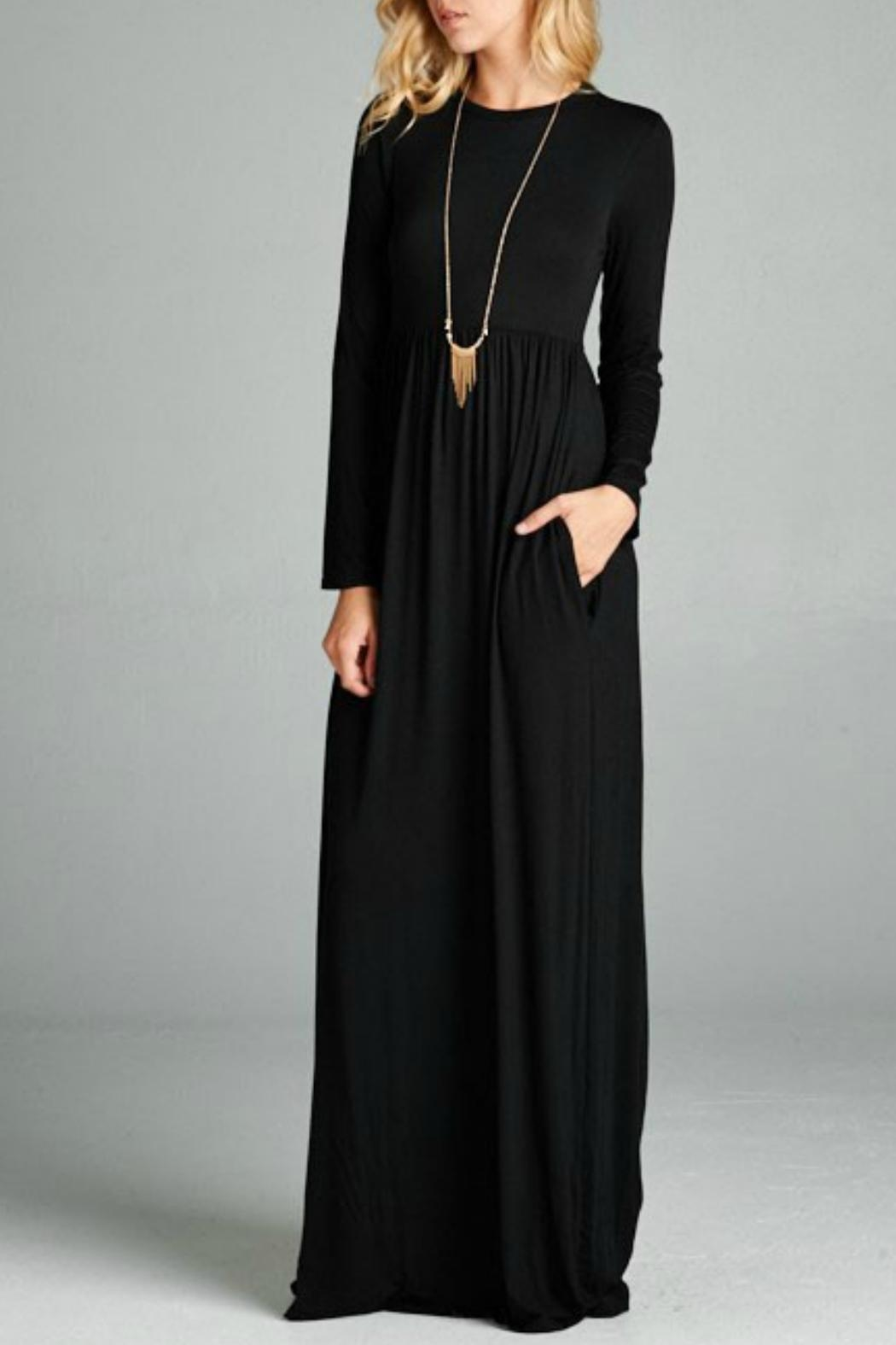 Bellamie Black Empire Maxi - Front Cropped Image
