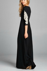 Bellamie Crochet Maxi W/pockets - Front cropped