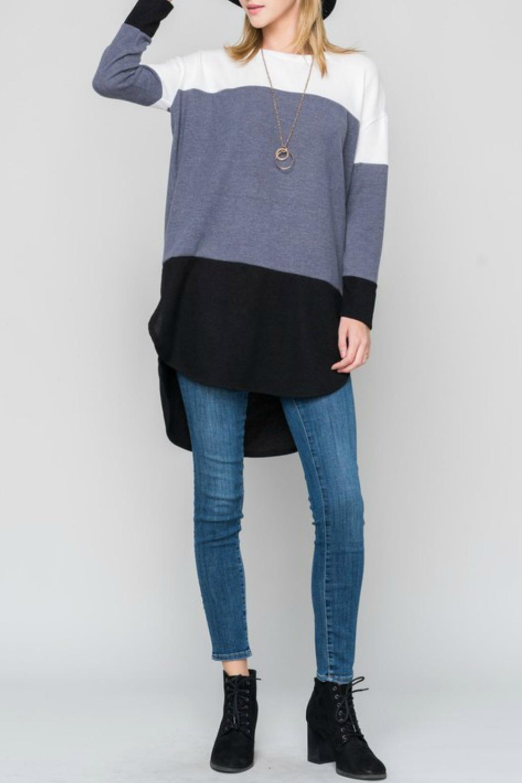 Bellamie Curved Hem Tunic - Front Cropped Image