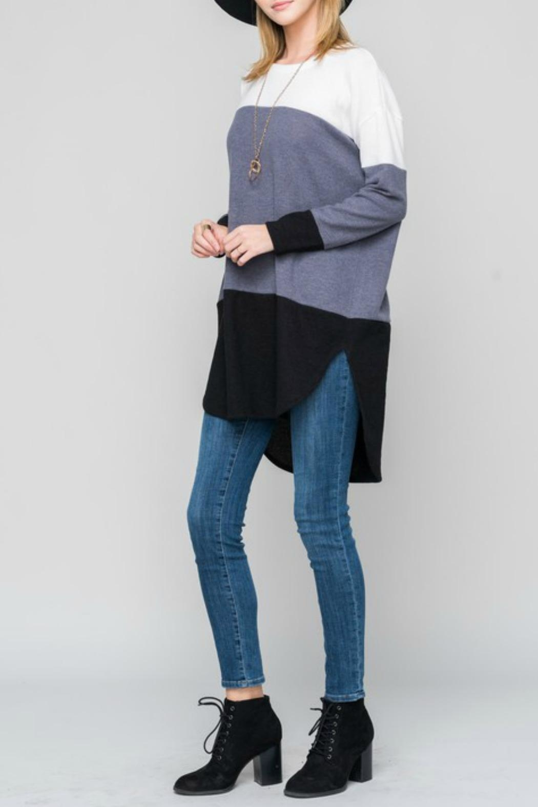 Bellamie Curved Hem Tunic - Side Cropped Image