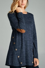 Bellamie Elbow Patch Tunic - Product Mini Image